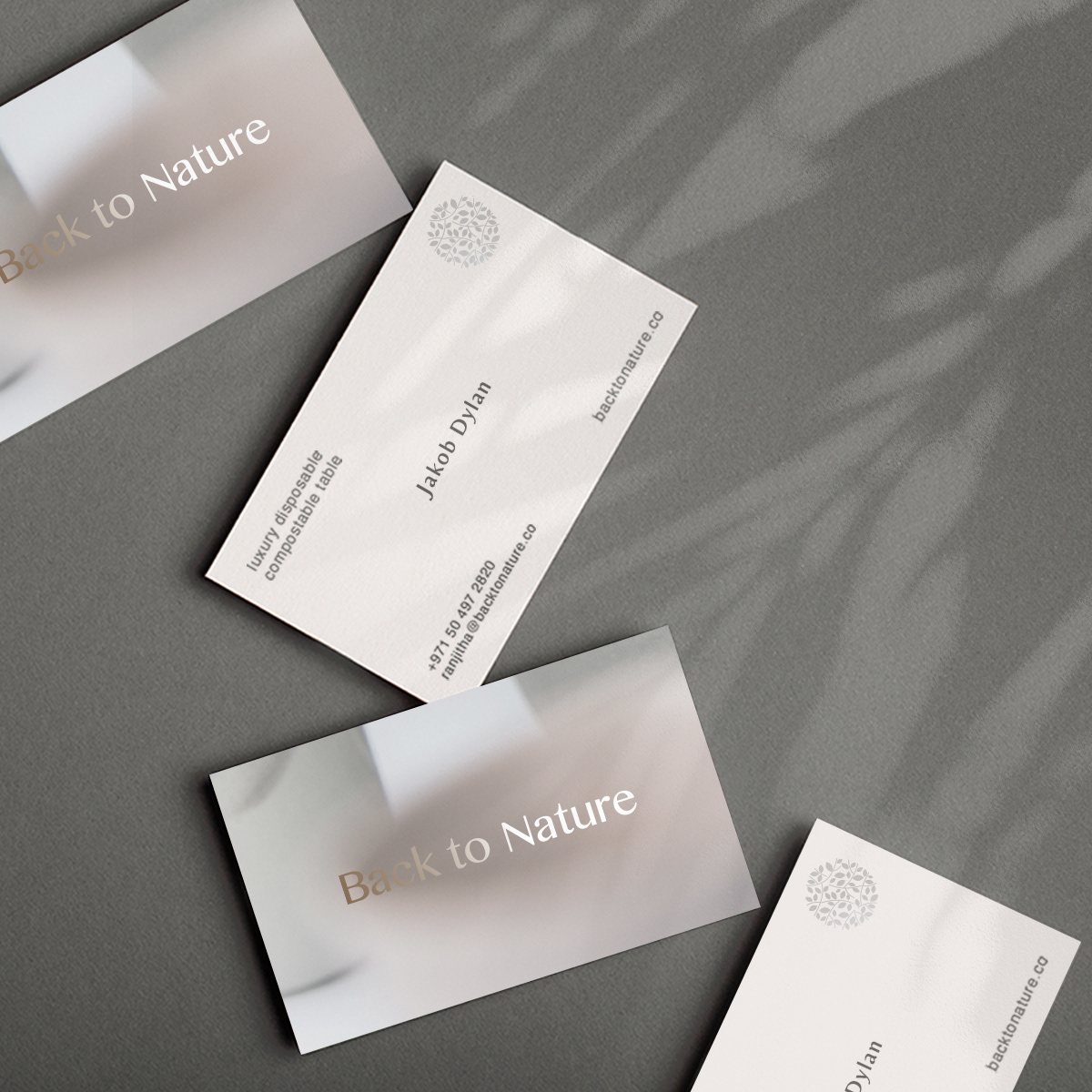 Stationery design for back to nature