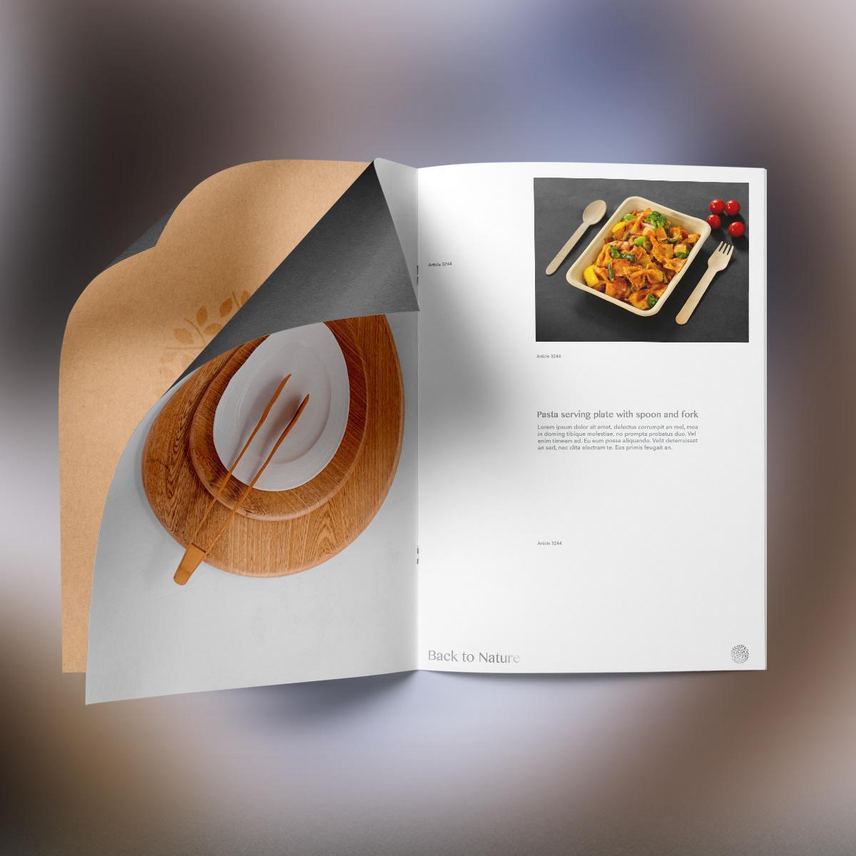 Brochure design for serveware company